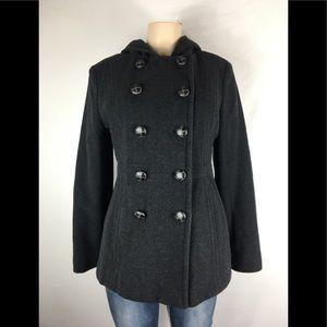 London fog wool blend coat jacket size medium